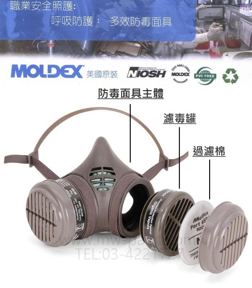 美國MOLDEX專業防毒面具3 800__