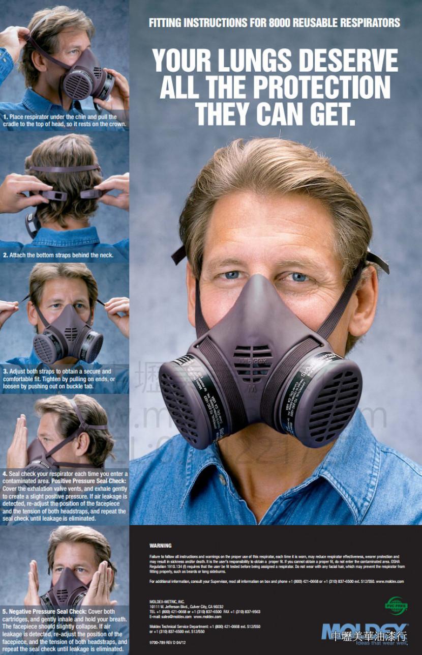 美國MOLDEX專業防毒面具2_